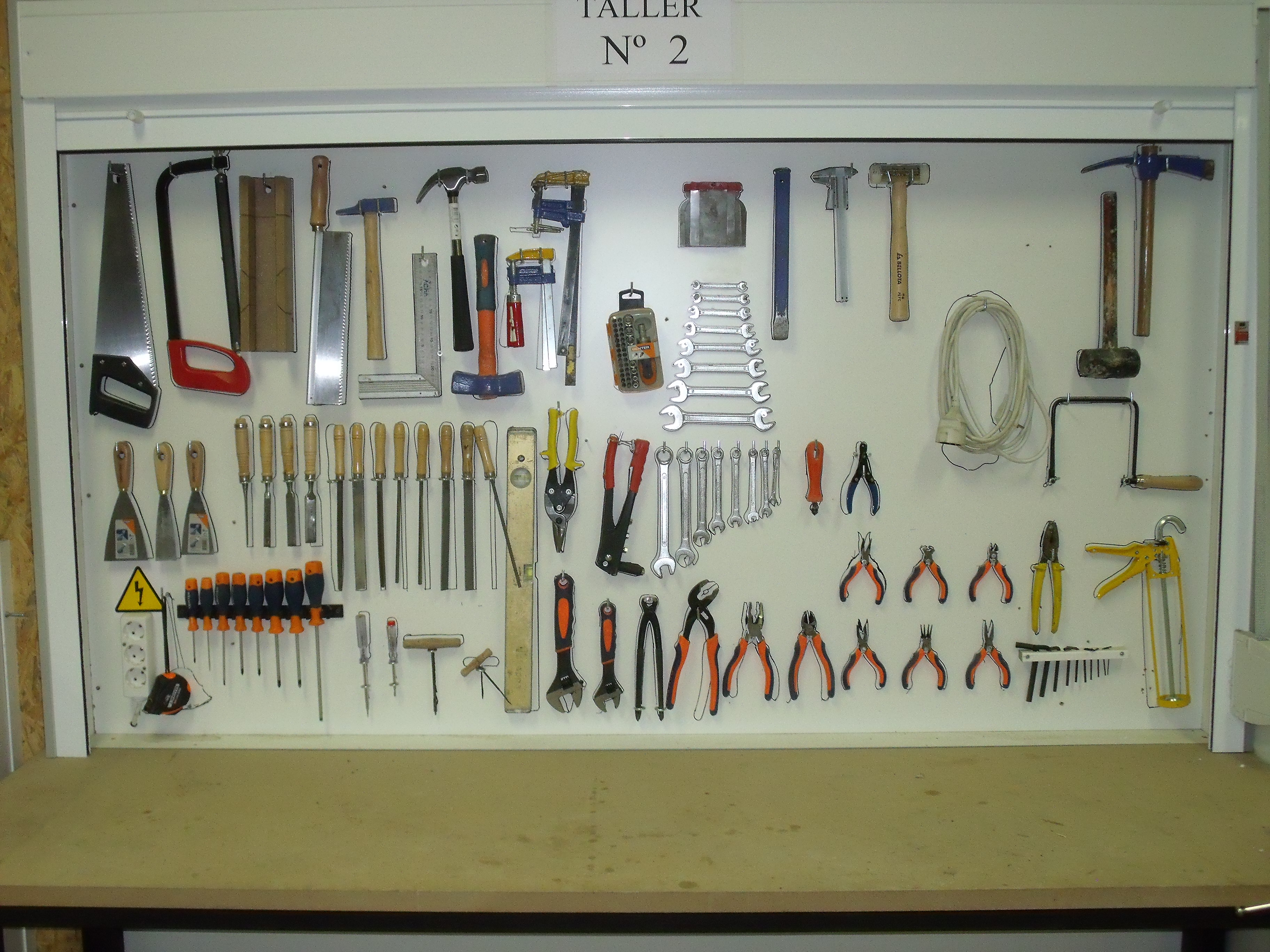 Tarifa de precios alquiler bricotaller alquiler bricotaller - Tablero de herramientas ...